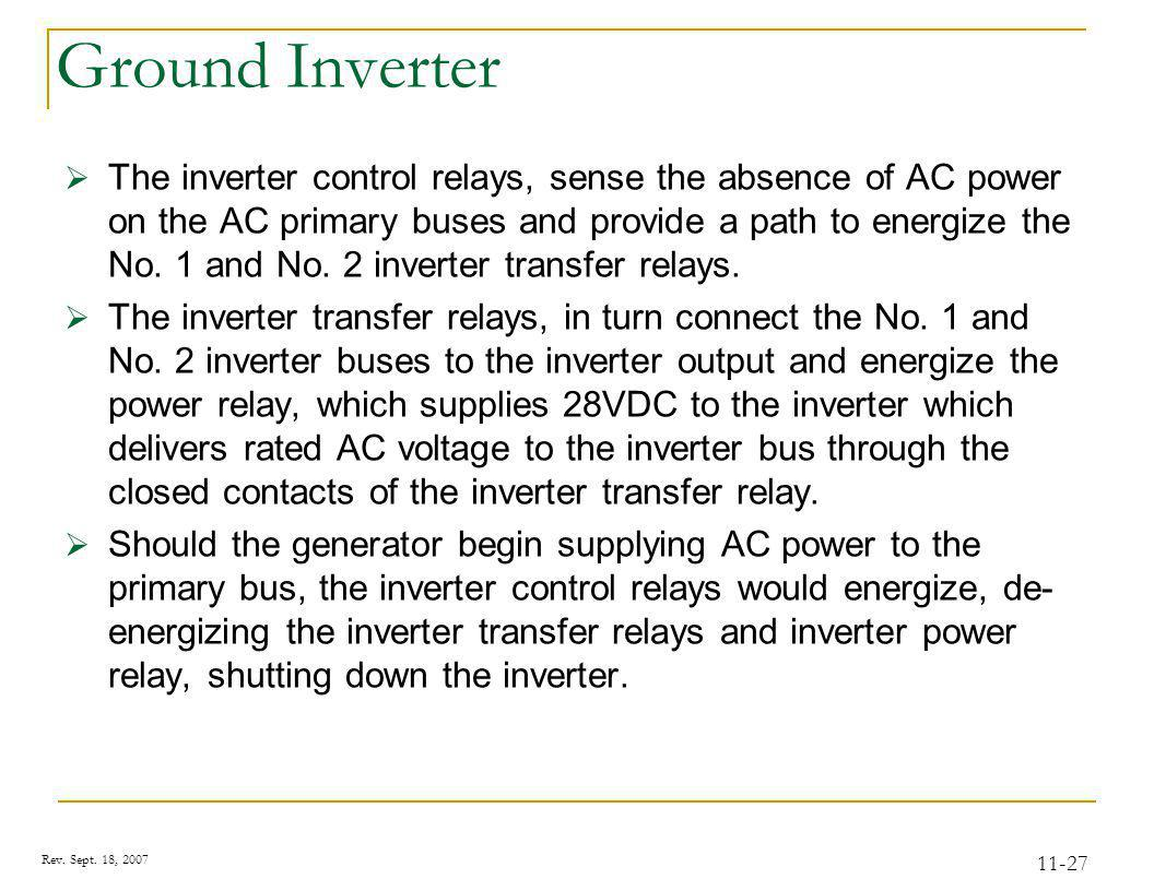 AC Distribution Normal Power Sensing and Control Voltage
