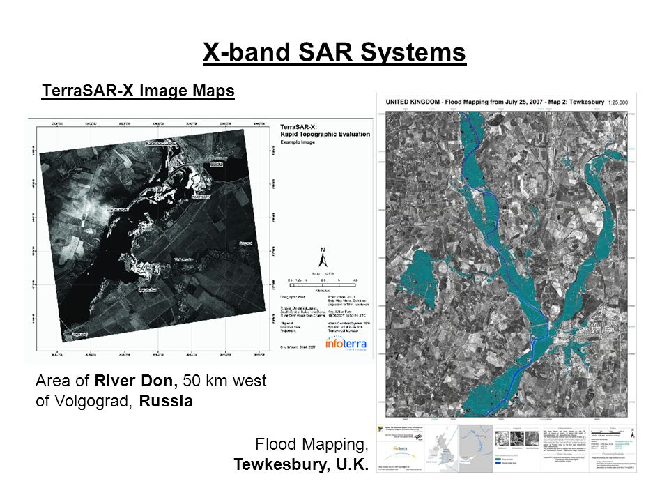 X-band SAR Systems TerraSAR-X Image Maps