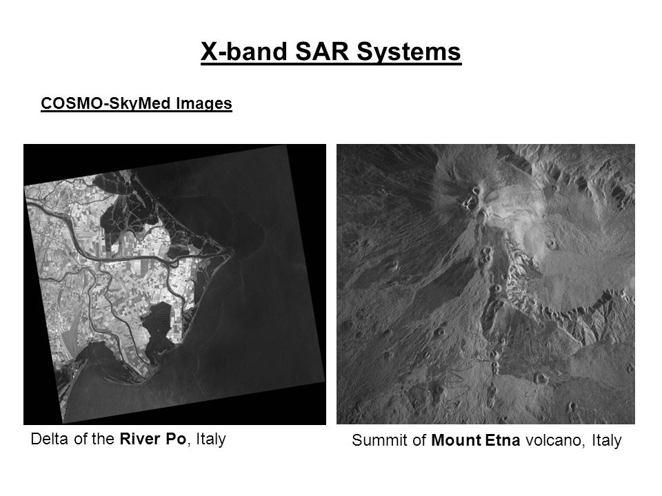 X-band SAR Systems COSMO-SkyMed Images Delta of the River Po, Italy