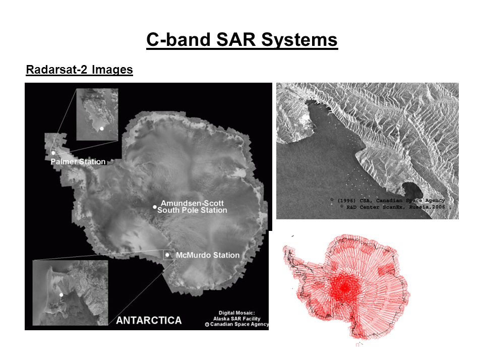 C-band SAR Systems Radarsat-2 Images