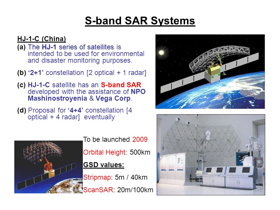 S-band SAR Systems HJ-1-C (China)