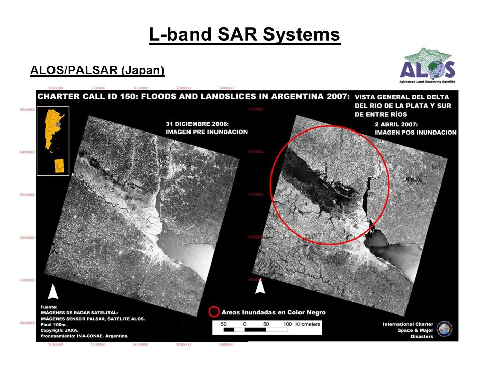 L-band SAR Systems ALOS/PALSAR (Japan)