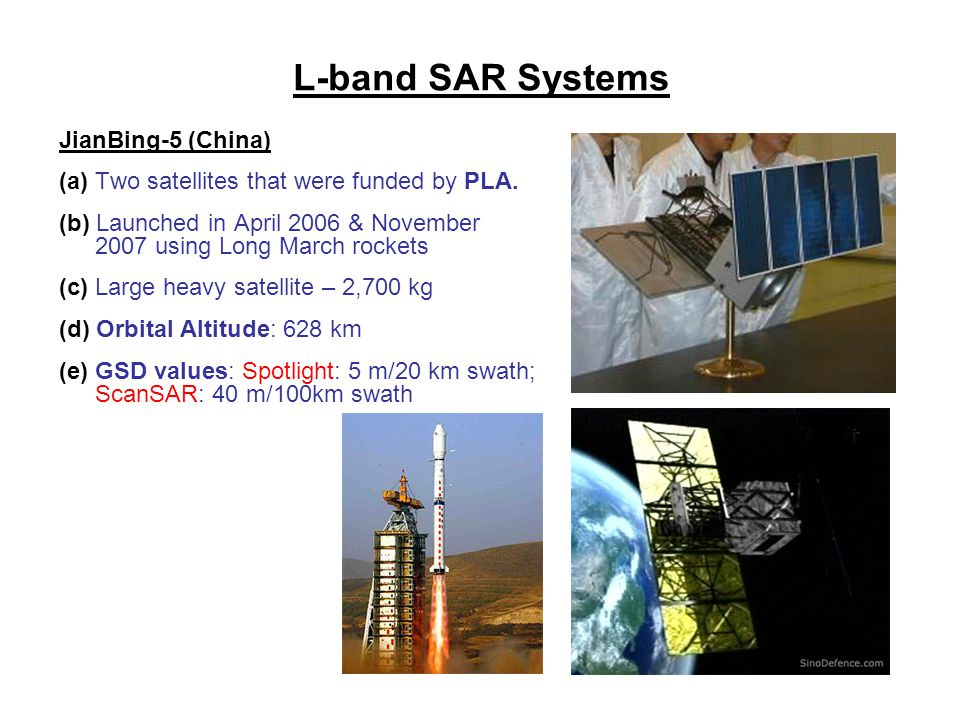 L-band SAR Systems JianBing-5 (China)