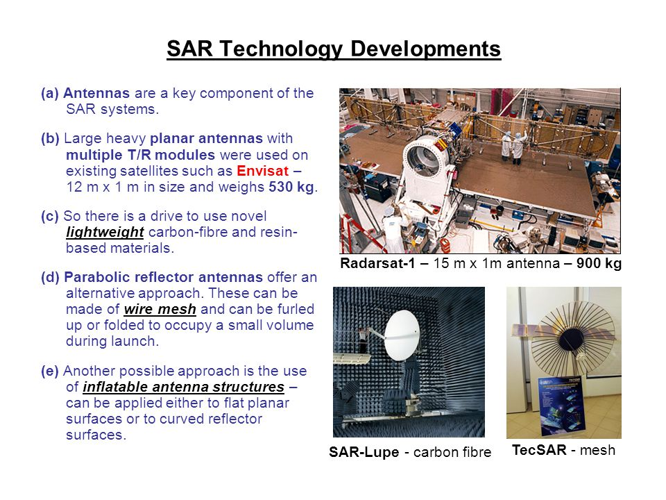 SAR Technology Developments