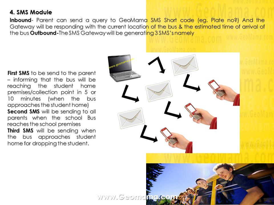 www.Geomama.com 4. SMS Module