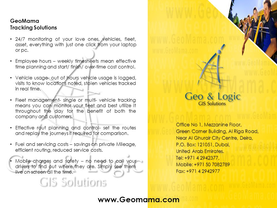 www.Geomama.com GeoMama Tracking Solutions
