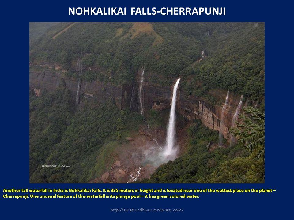 NOHKALIKAI FALLS-CHERRAPUNJI