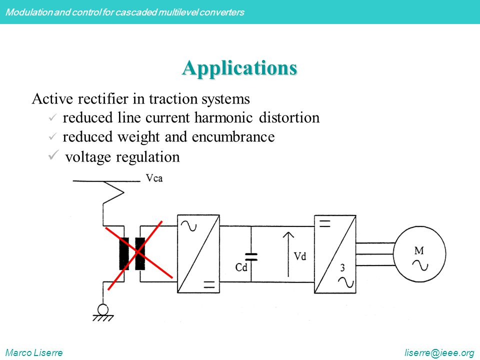 Applications Active rectifier in traction systems