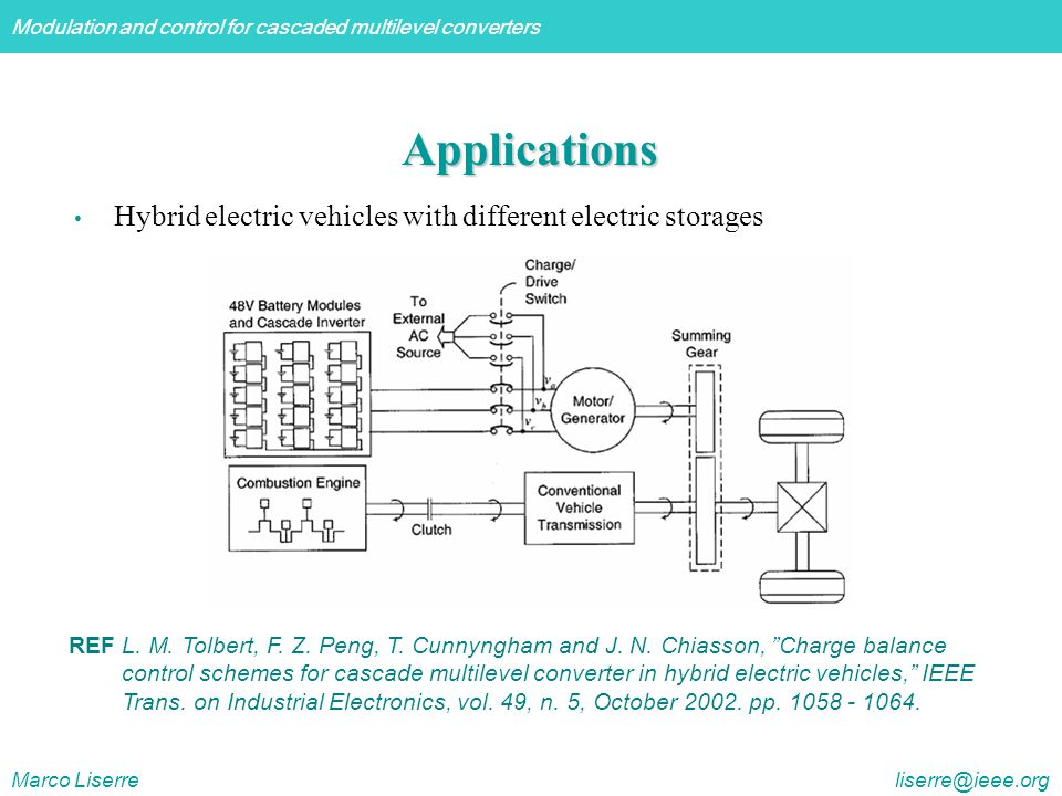 Applications Hybrid electric vehicles with different electric storages