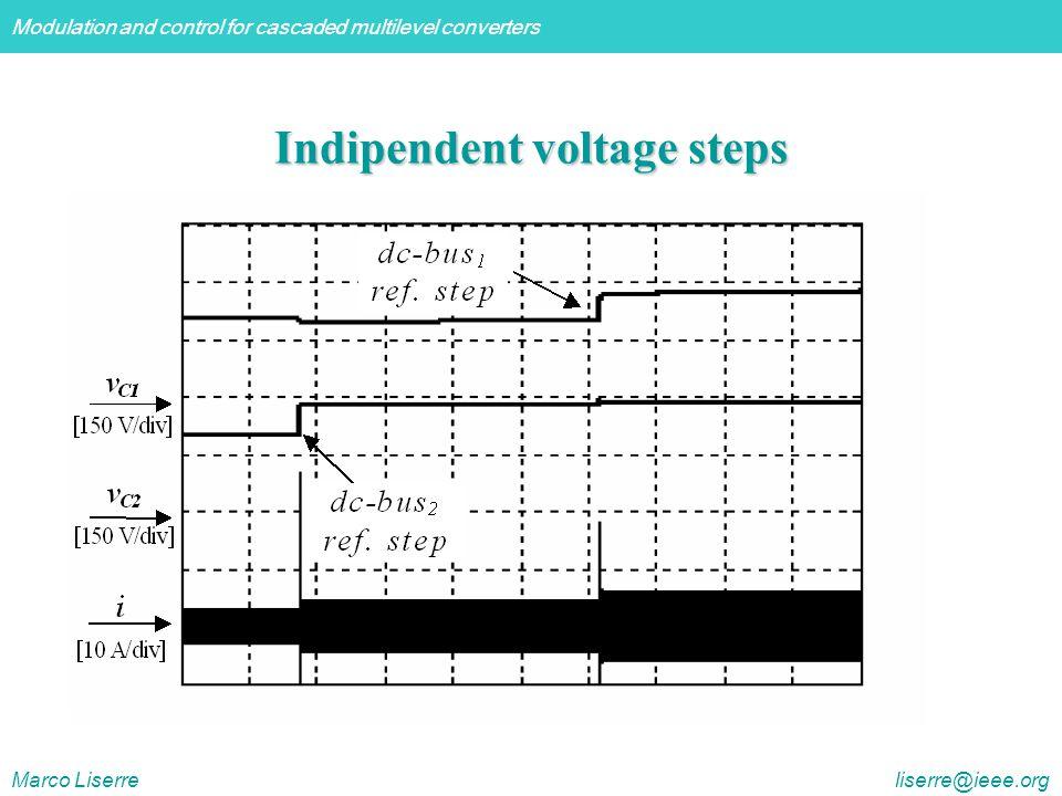 Indipendent voltage steps