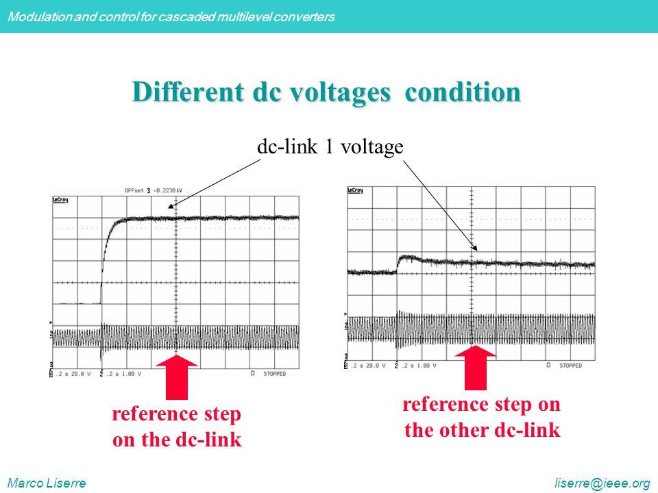 Different dc voltages condition