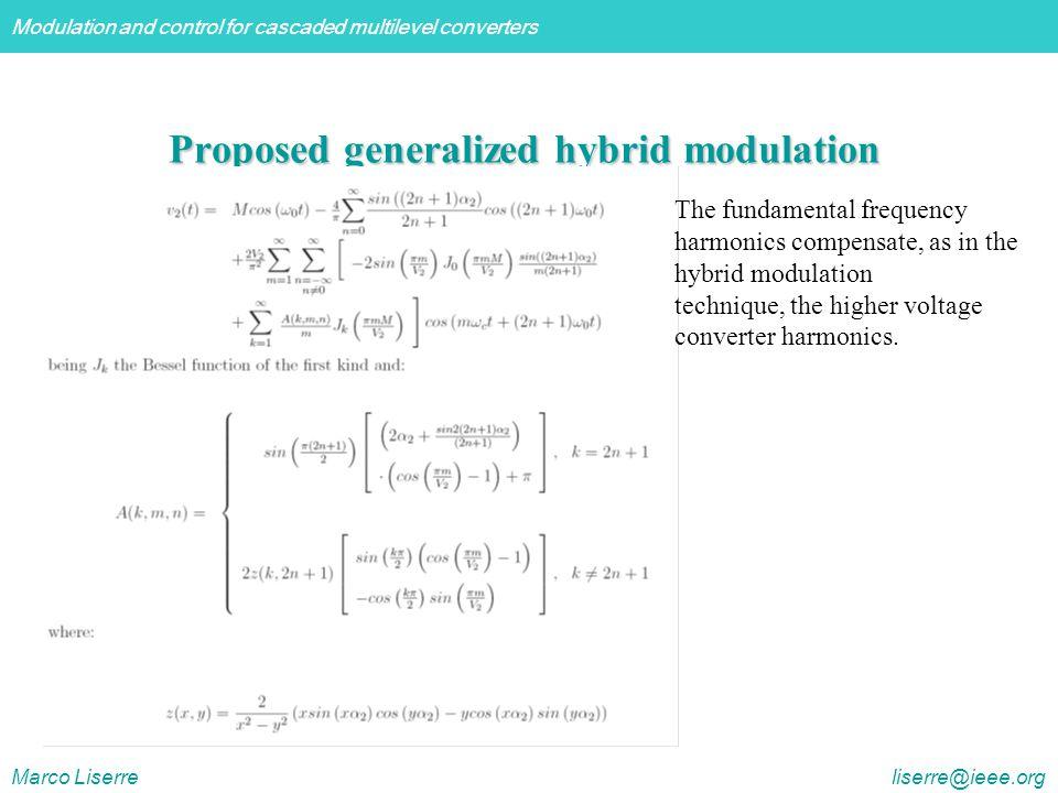 Proposed generalized hybrid modulation