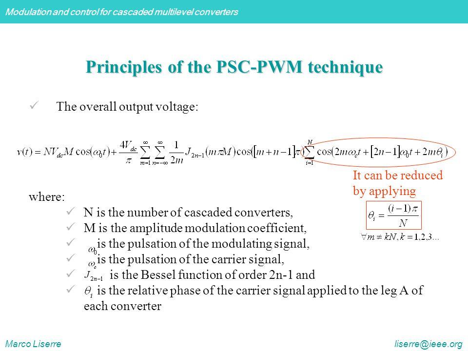 Principles of the PSC-PWM technique