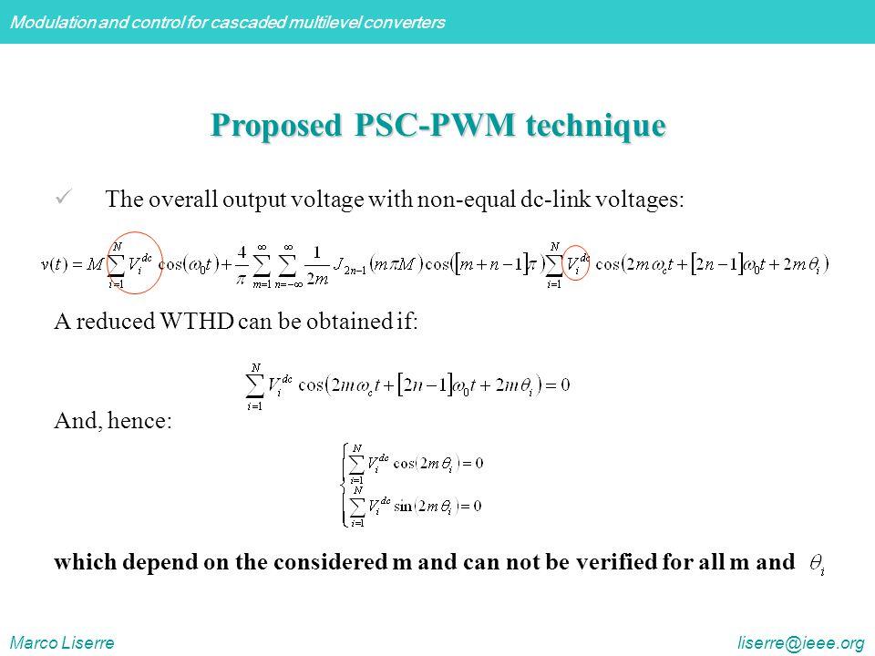 Proposed PSC-PWM technique