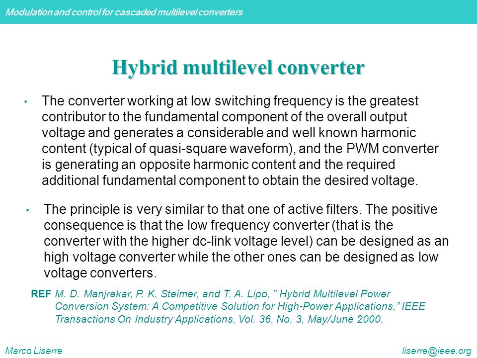 Hybrid multilevel converter