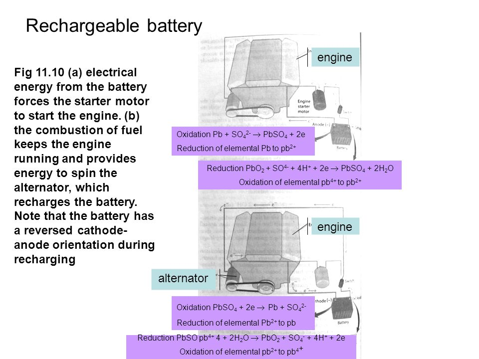 Rechargeable battery engine