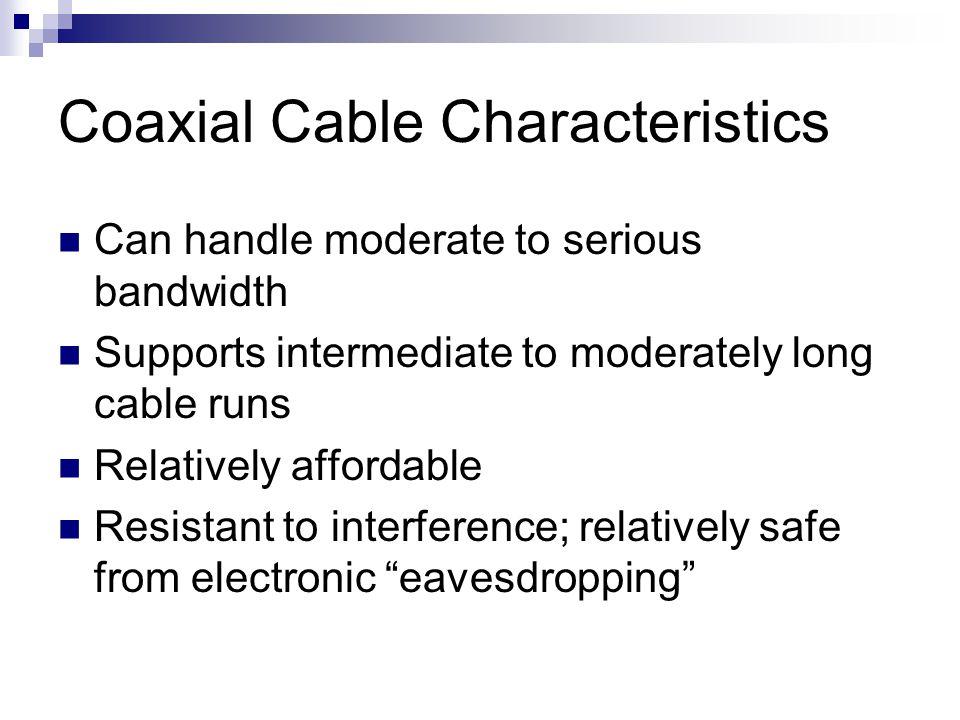 Coaxial Cable Characteristics
