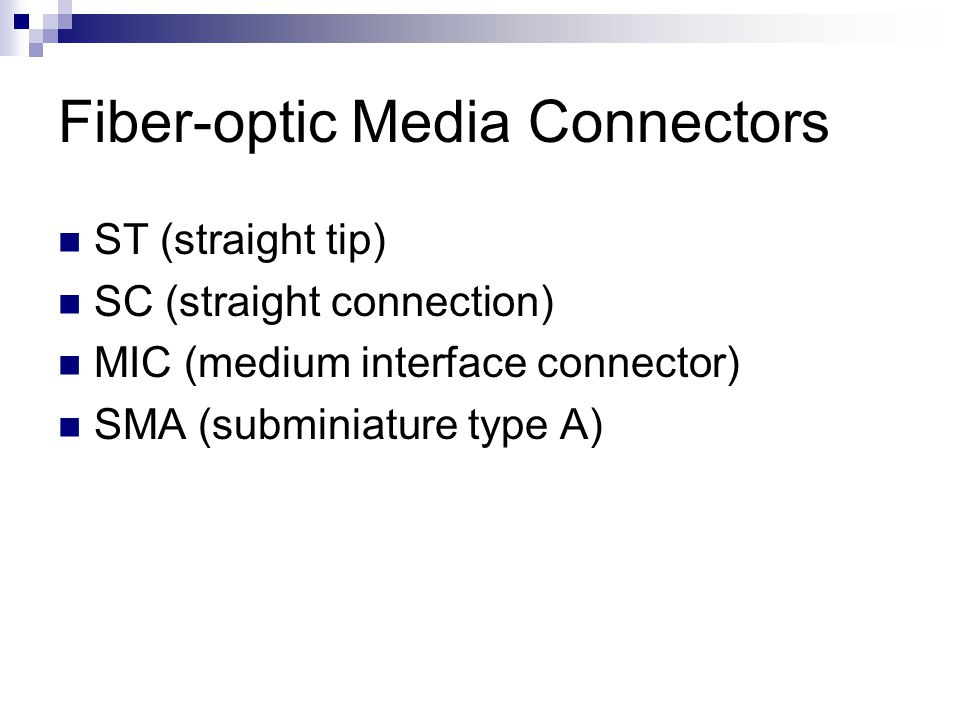 Fiber-optic Media Connectors