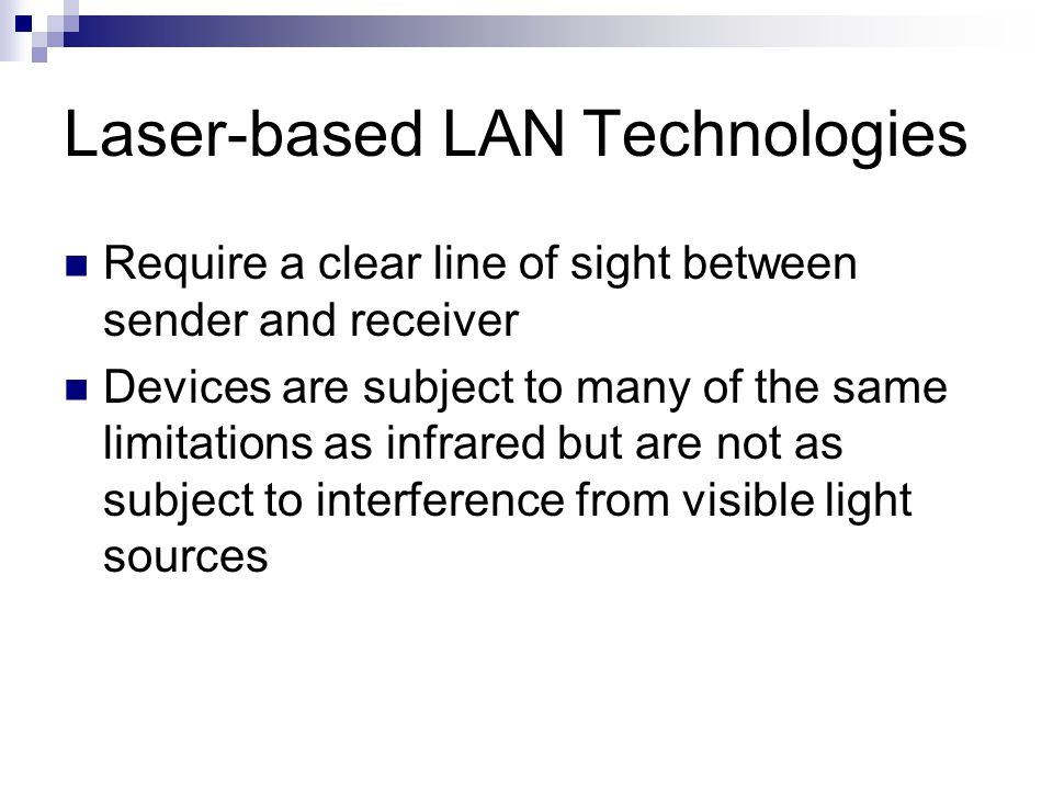 Laser-based LAN Technologies