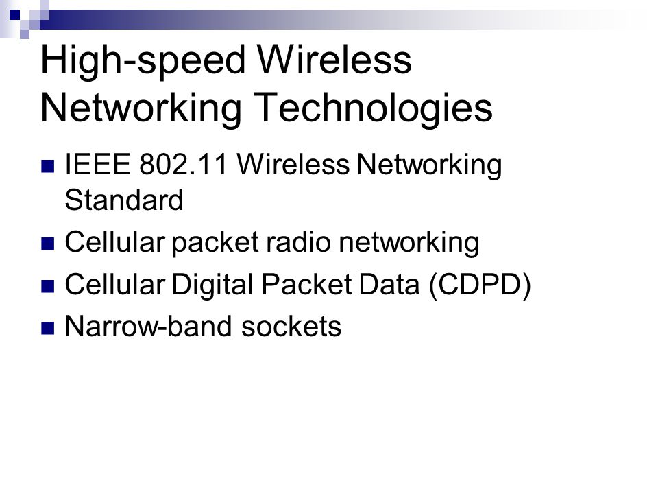 High-speed Wireless Networking Technologies
