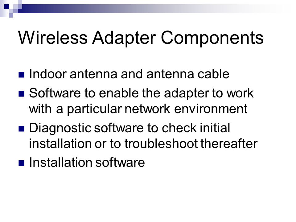 Wireless Adapter Components
