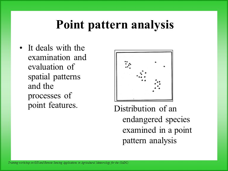 Point pattern analysis