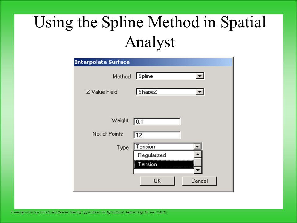 Using the Spline Method in Spatial Analyst