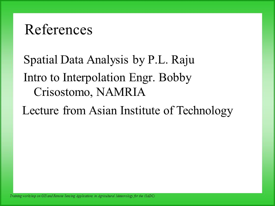 Lecture from Asian Institute of Technology