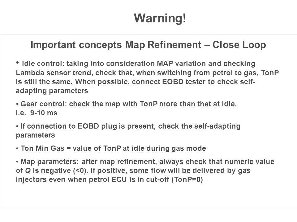 Important concepts Map Refinement – Close Loop