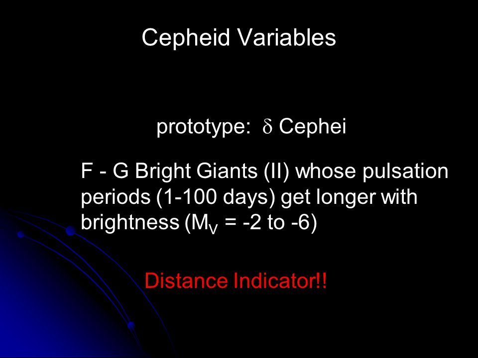Cepheid Variables prototype:  Cephei