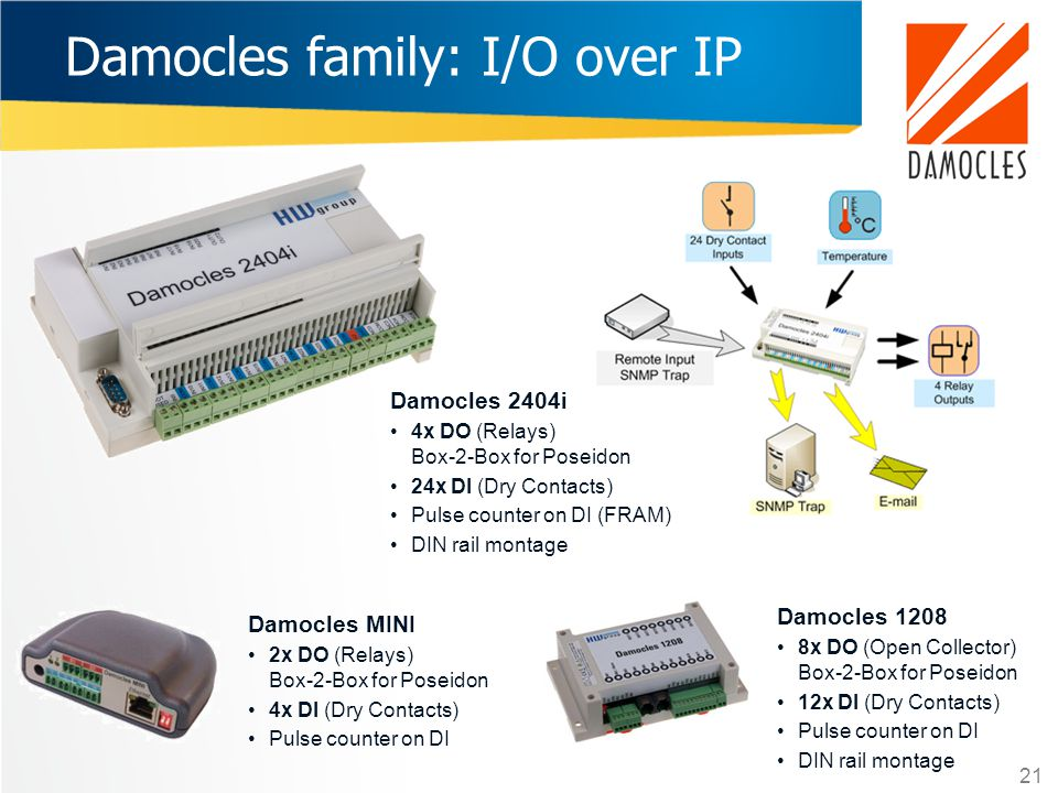 Damocles family: I/O over IP