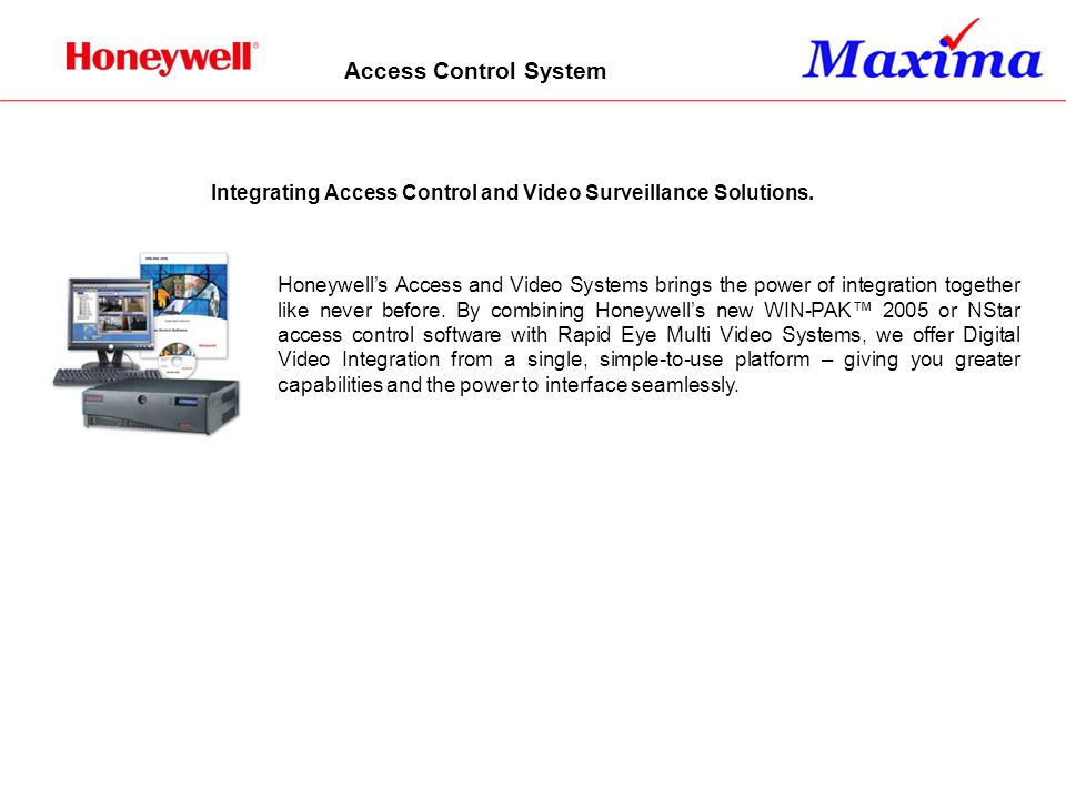 Access Control System Integrating Access Control and Video Surveillance Solutions.