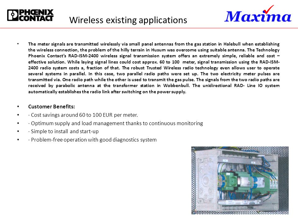 Wireless existing applications