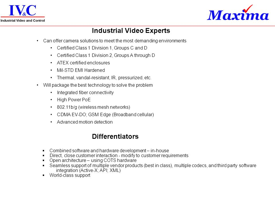 Industrial Video Experts