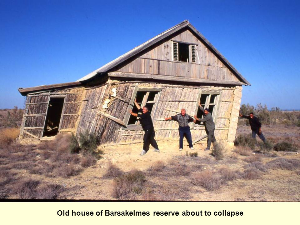 Old house of Barsakelmes reserve about to collapse