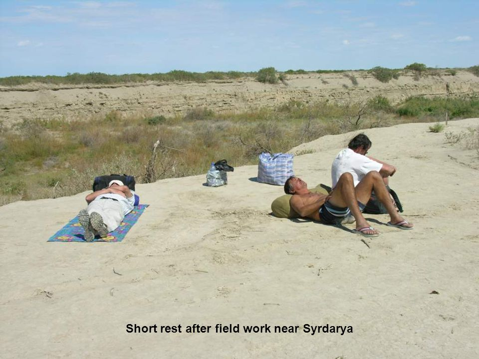 Short rest after field work near Syrdarya