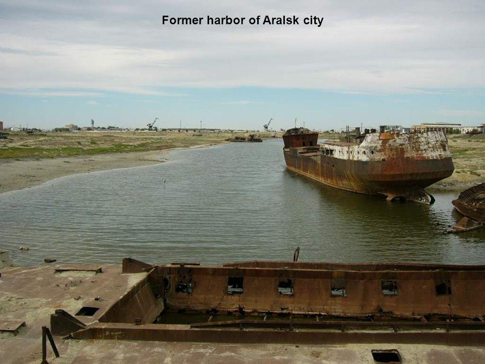 Former harbor of Aralsk city