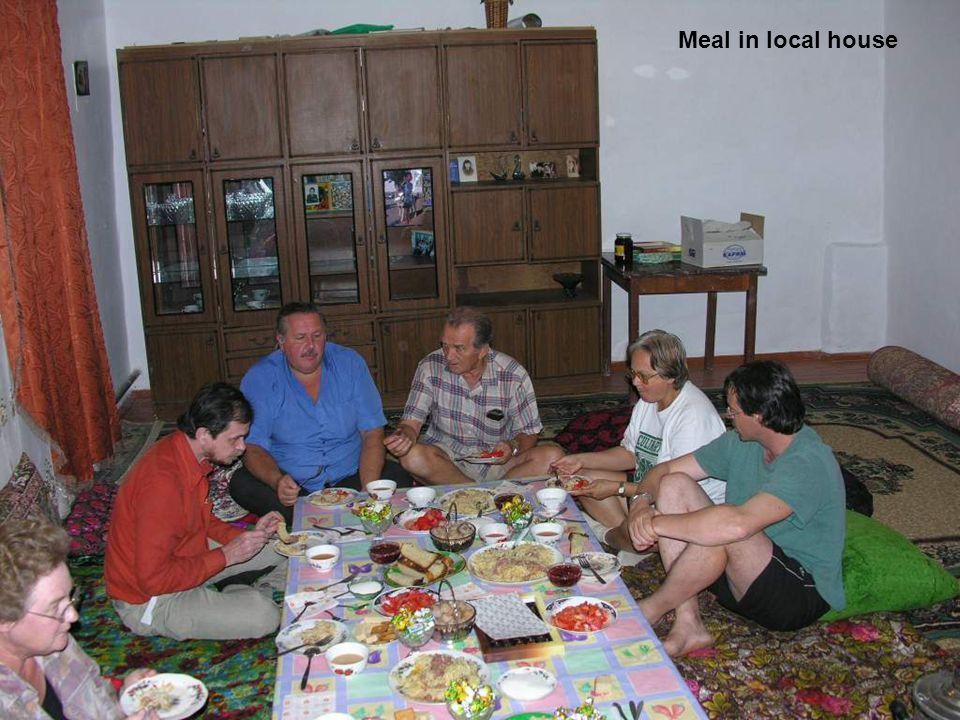 Meal in local house