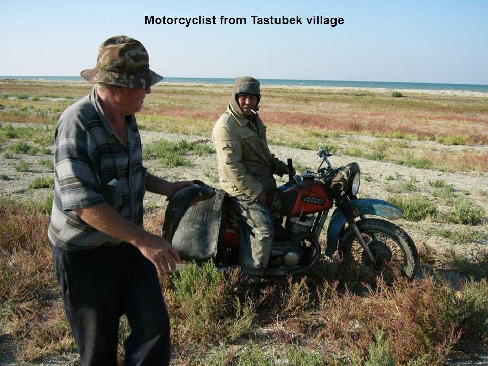 Motorcyclist from Tastubek village