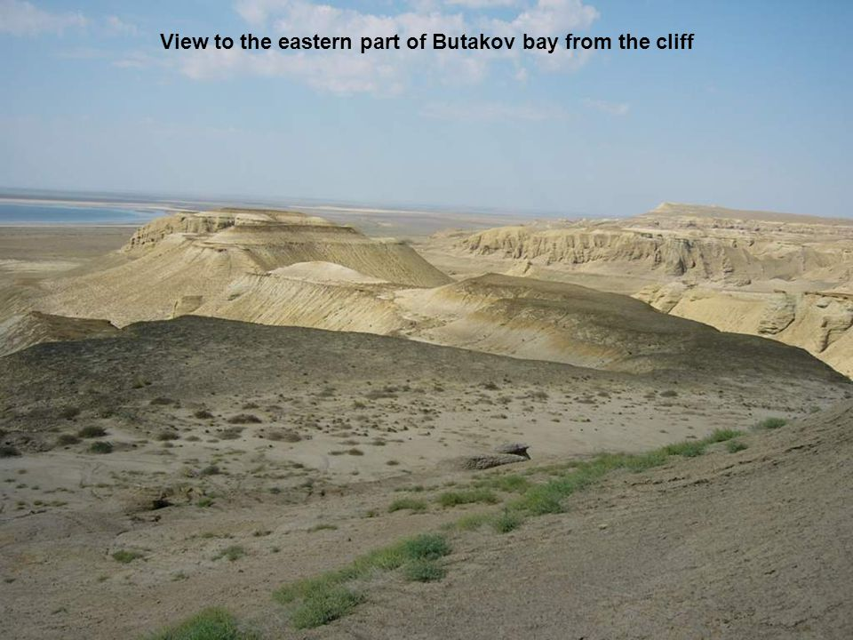 View to the eastern part of Butakov bay from the cliff