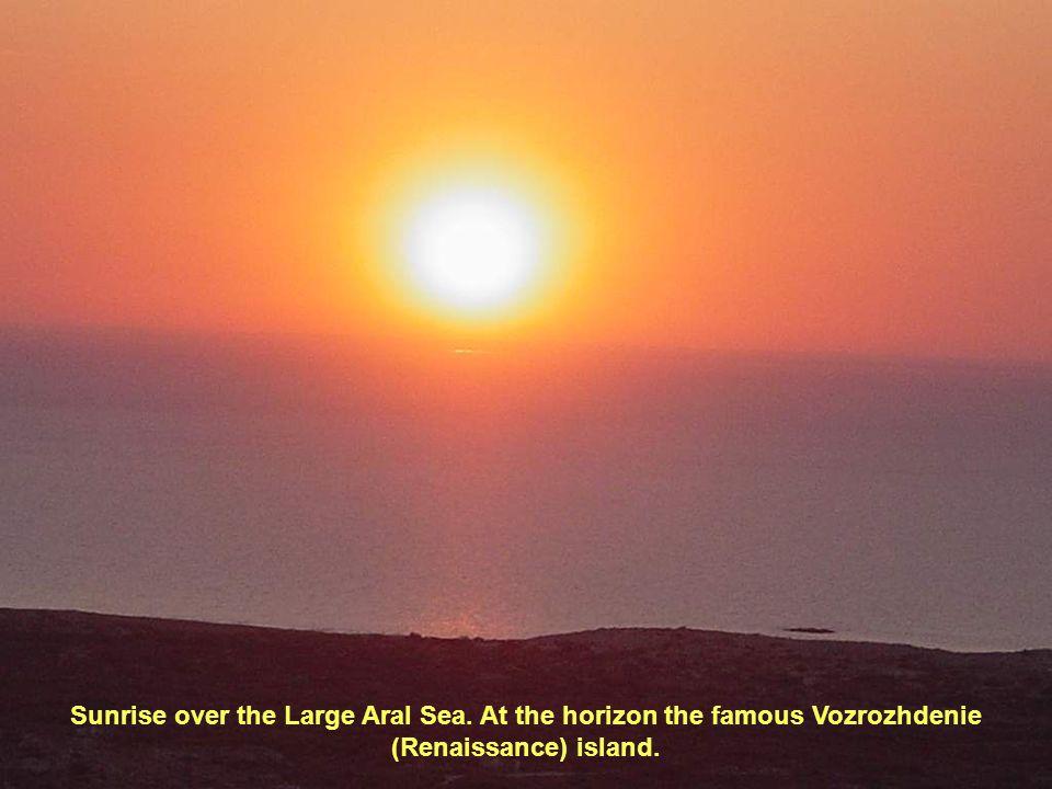 Sunrise over the Large Aral Sea