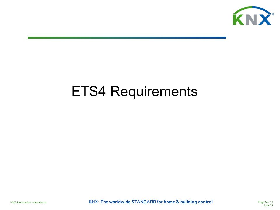 ETS4 Requirements