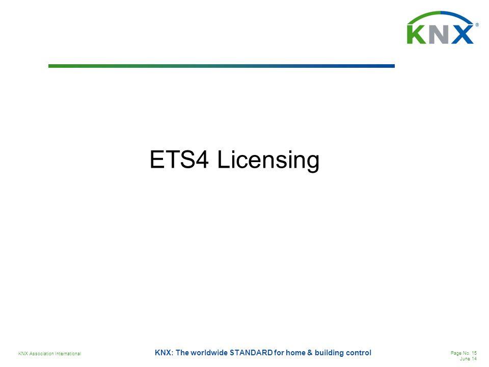 ETS4 Licensing