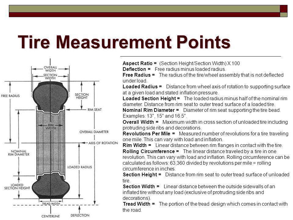 Tire Measurement Points