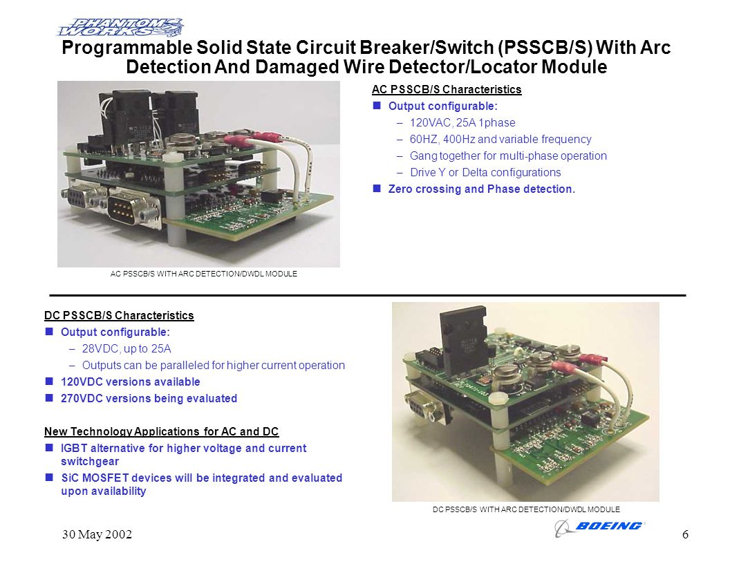 Programmable Solid State Circuit Breaker/Switch (PSSCB/S) With Arc Detection And Damaged Wire Detector/Locator Module