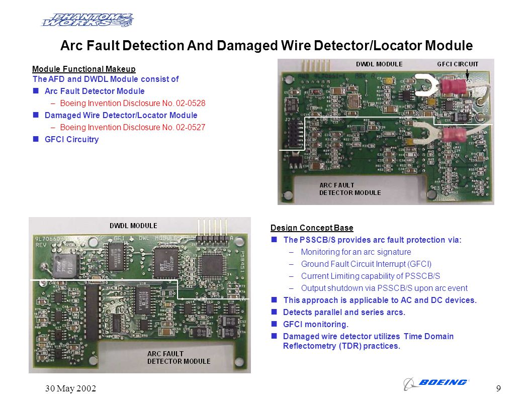 Arc Fault Detection And Damaged Wire Detector/Locator Module