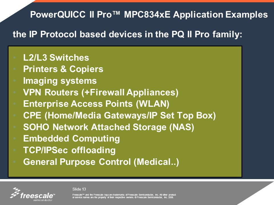 PowerQUICC II Pro™ MPC834xE Application Examples