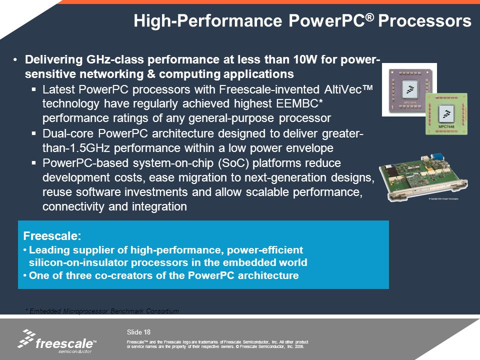 High-Performance PowerPC® Processors