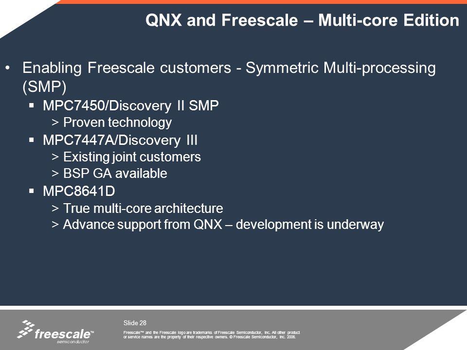 QNX and Freescale – Multi-core Edition