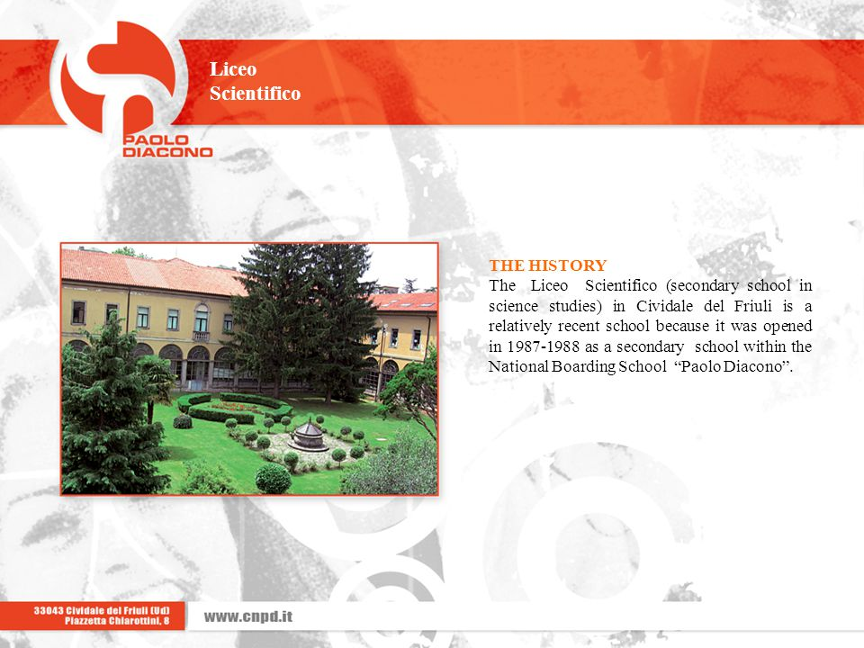 Liceo Scientifico THE HISTORY